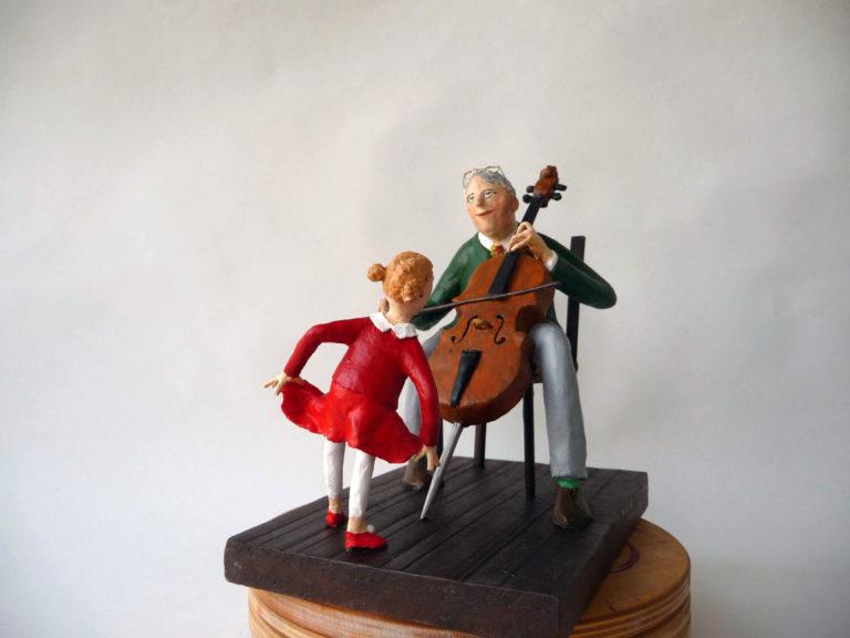Cellist met danseresje