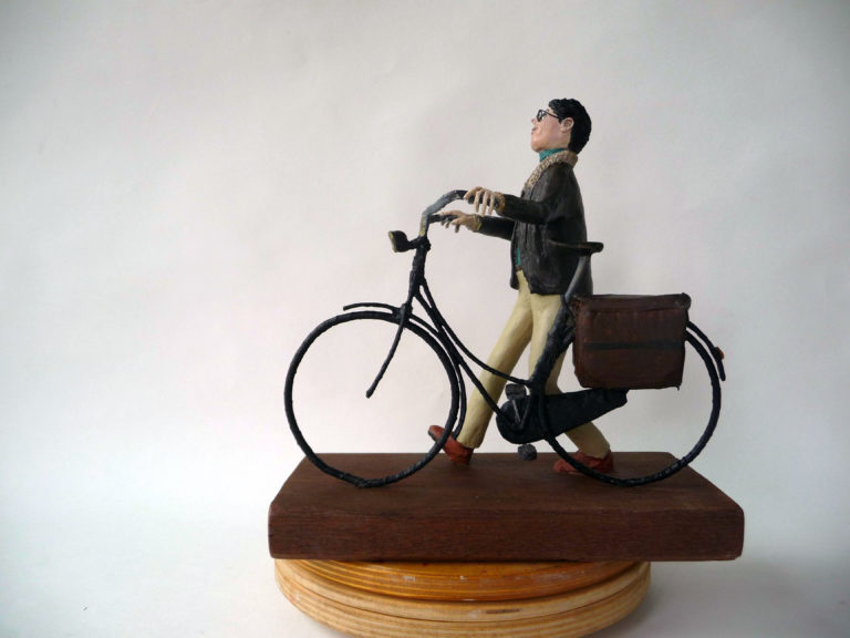 Man met fiets