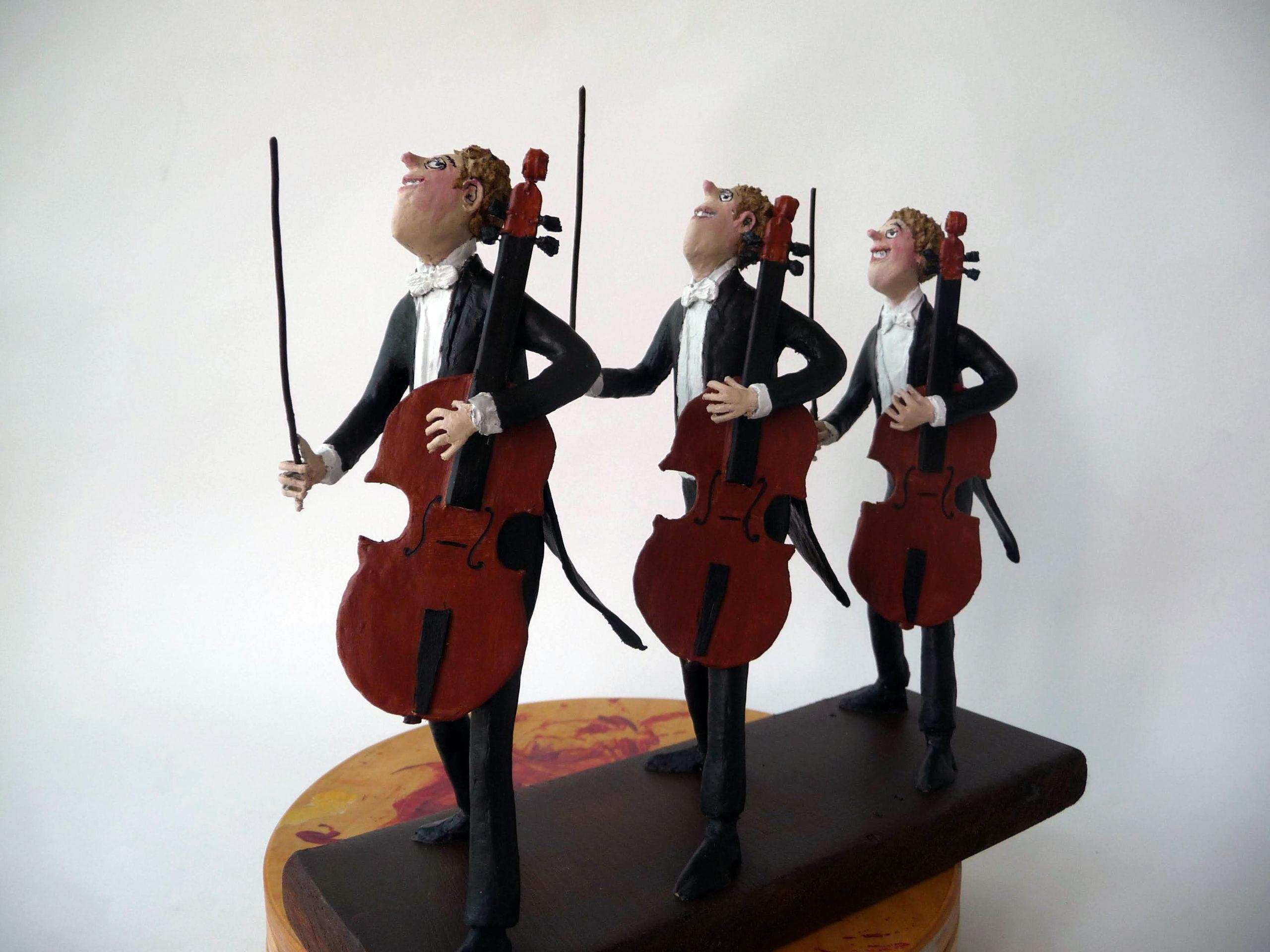 Drie cellisten